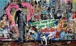 Where There is Love, There is Life by Yuvi -  sized 53x32 inches. Available from Whitewall Galleries